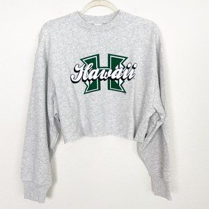 VS Pink University of Hawaii UH Cropped Sweatshirt
